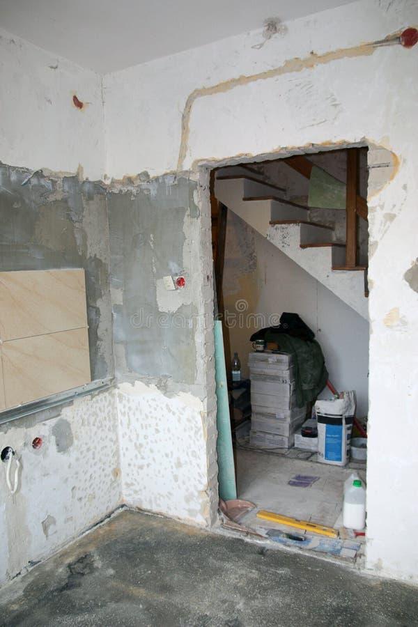 Huisvernieuwing (keuken) stock afbeelding