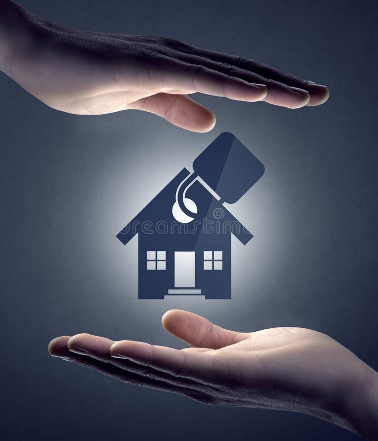 Huisverzekering en veiligheid royalty-vrije stock afbeeldingen