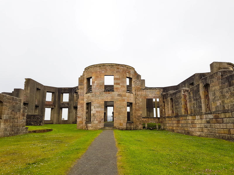 Huisvest bergaf, bergaf Demesne en Hezlett-Huis, Castle Rock, Noord-Ierland stock foto's