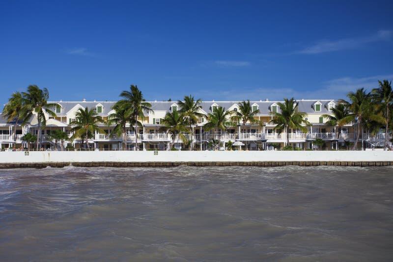 Huisvest dichtbij het strand in Key West stock fotografie