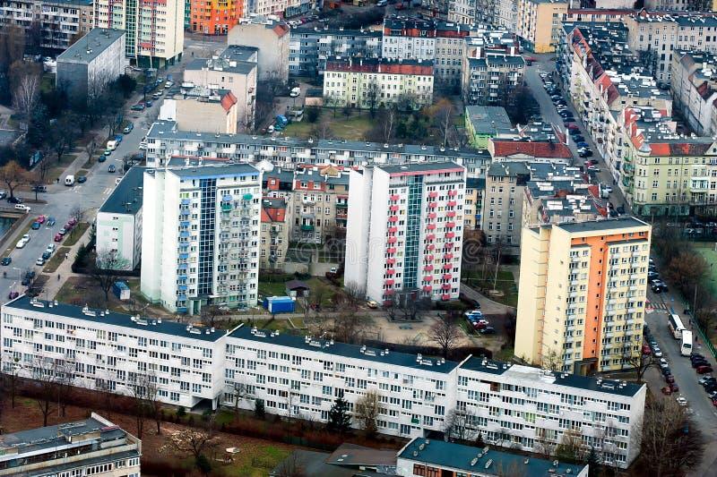 Huisvesting in Wroclaw stock fotografie