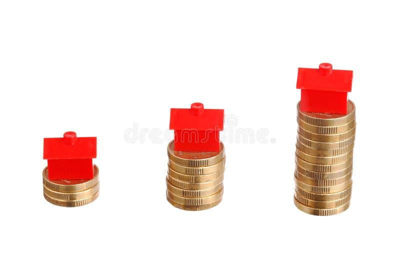 Huisvestingskosten royalty-vrije stock afbeeldingen