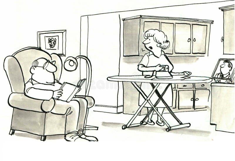 Huisvrouw vector illustratie