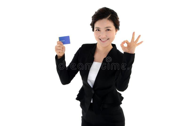 Huisvrouwenwerknemer op witte achtergrond wordt geïsoleerd die royalty-vrije stock foto
