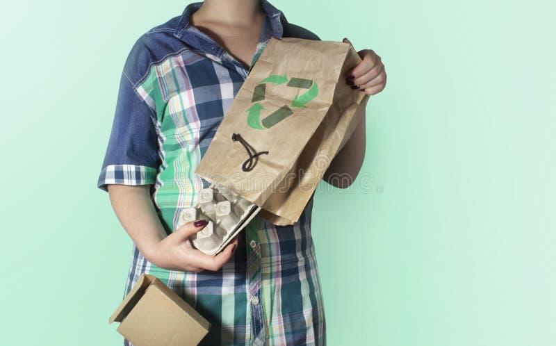 Huisvuil die concept-3 recycleren stock foto's