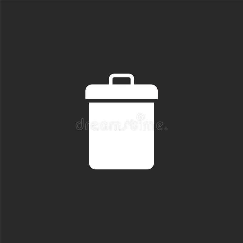 Huisvuilpictogram Gevuld huisvuilpictogram voor websiteontwerp en mobiel, app ontwikkeling huisvuilpictogram van gevulde essentië royalty-vrije illustratie