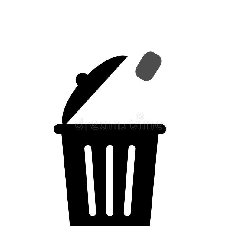 Huisvuilpictogram om het milieu schoon te houden vector illustratie