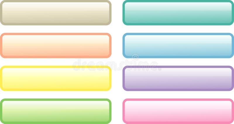 Huit boutons doux-colorés de Web illustration de vecteur