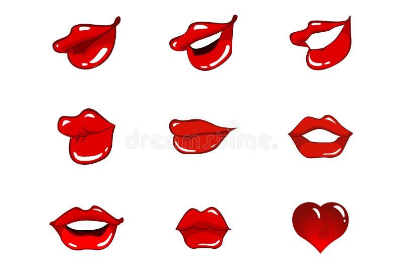 Huit languettes et un coeur photos libres de droits