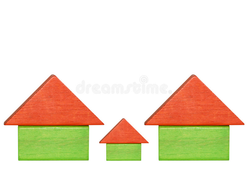 Huizen stock foto