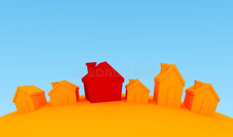 Huizen stock illustratie