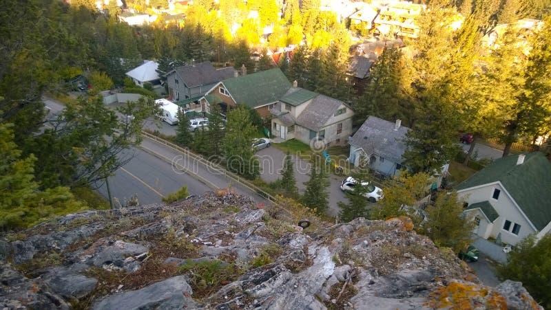 Huizen aan de bergkant royalty-vrije stock afbeelding