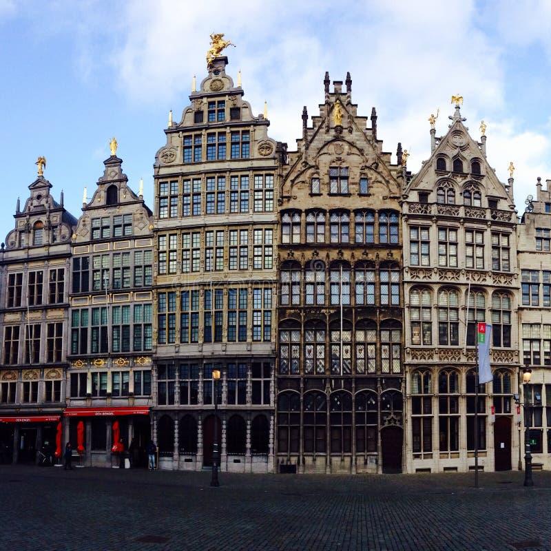 Huizen Antwerpen royalty-vrije stock afbeeldingen