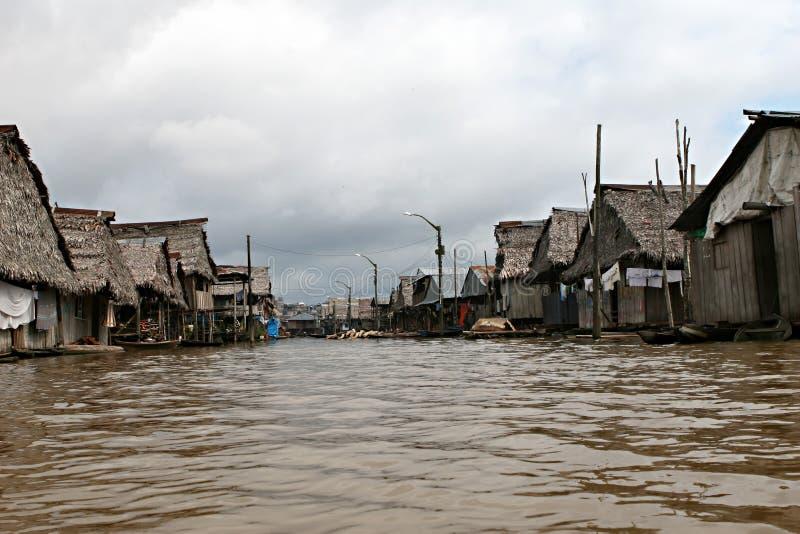 Huizen in Belen - Peru stock afbeeldingen