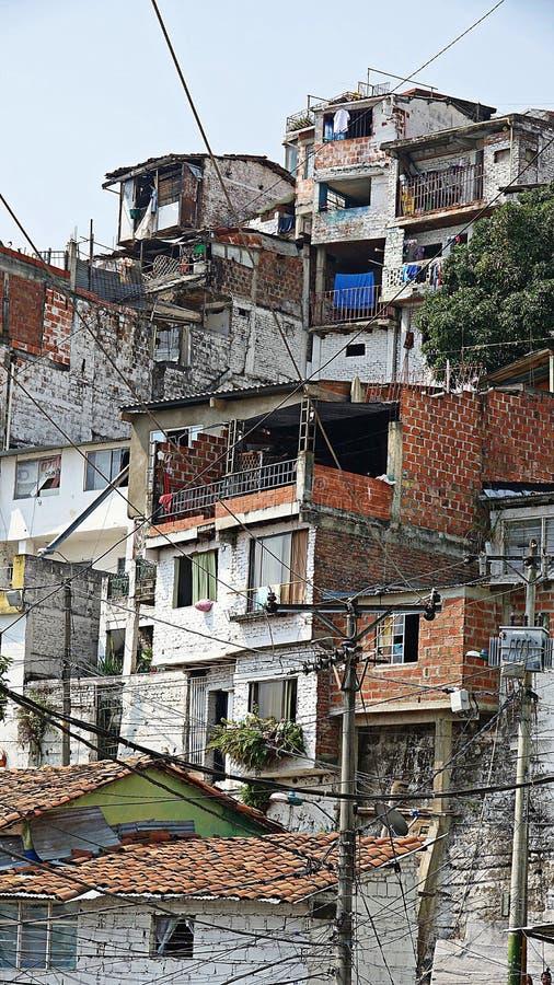 Huizen in Columbiaanse Barrio royalty-vrije stock foto's