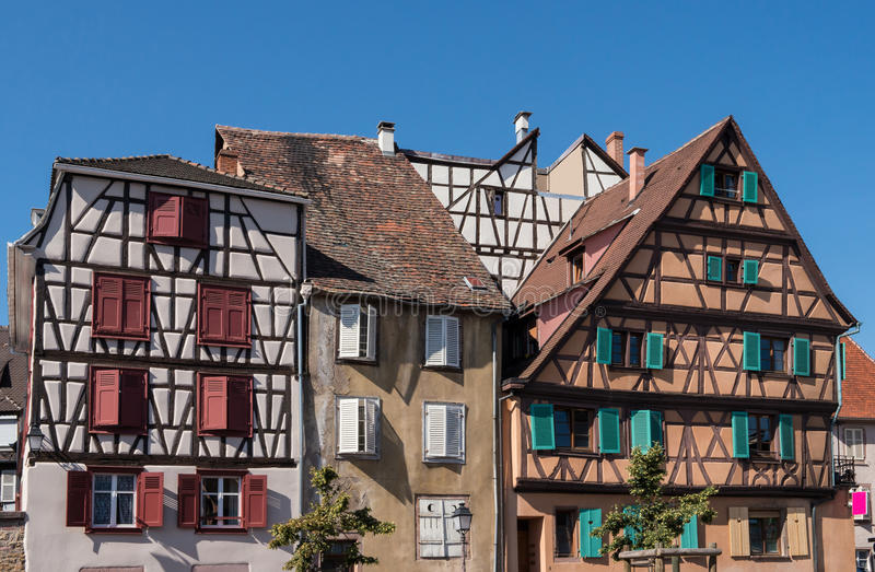 Huizen in de Elzas royalty-vrije stock foto