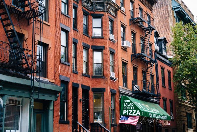 Huizen in de Hoogten van Brooklyn, de Stad van New York royalty-vrije stock foto