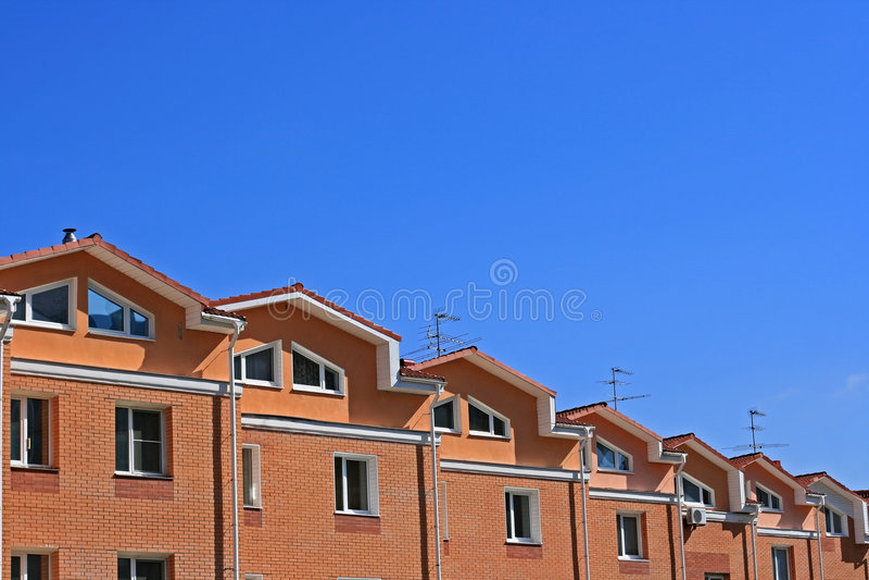 Huizen in de stad stock afbeeldingen