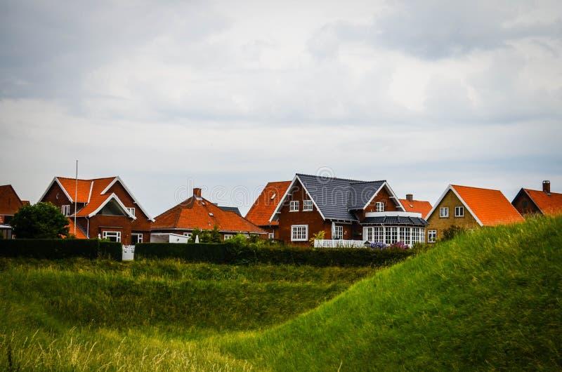 Huizen in Denemarken royalty-vrije stock afbeeldingen
