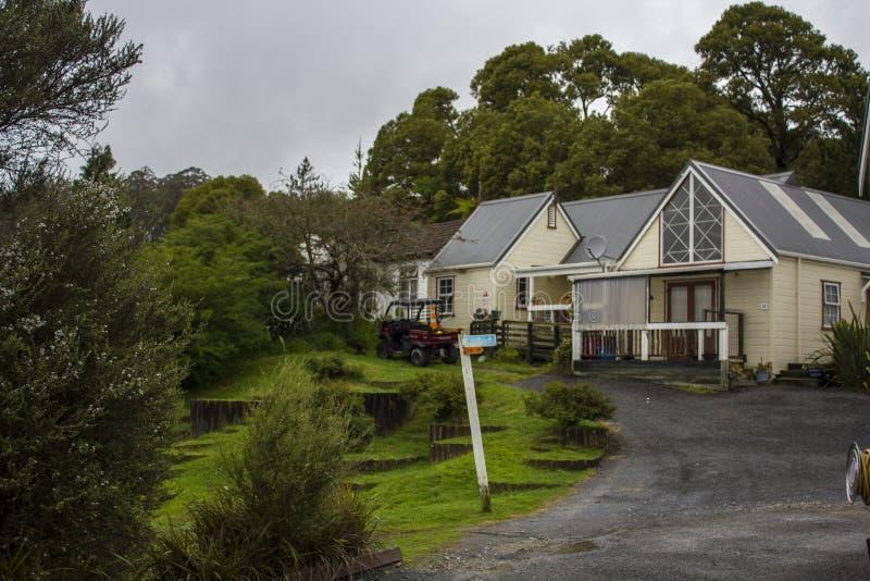 Huizen in dorp royalty-vrije stock foto