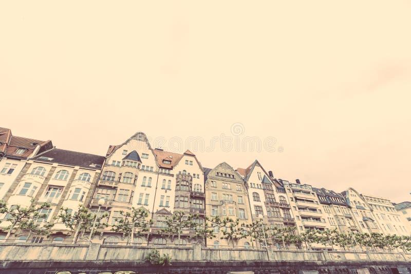 Huizen in Dusseldorf stock fotografie