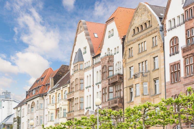 Huizen in Dusseldorf royalty-vrije stock fotografie