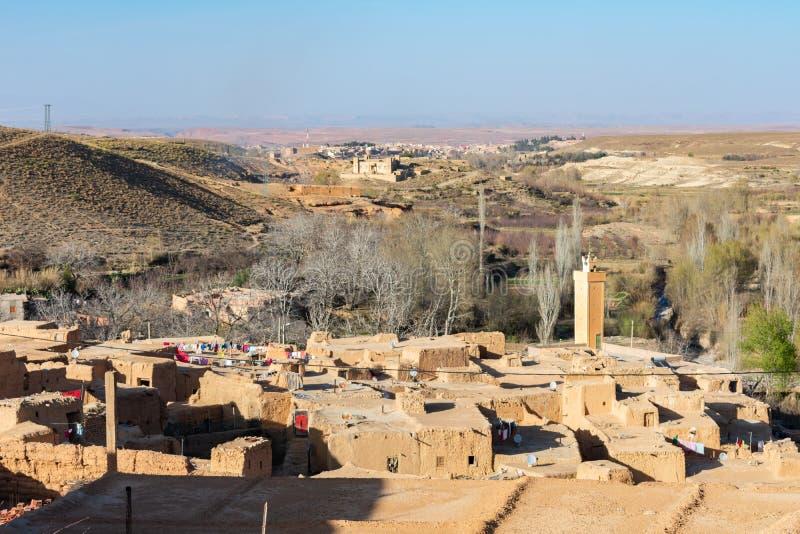 Huizen in een Landelijk Dorp in Midelt Marokko stock afbeeldingen