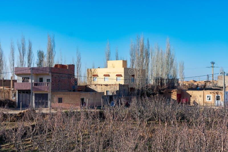 Huizen in een Landelijk Dorp in Midelt Marokko stock afbeelding