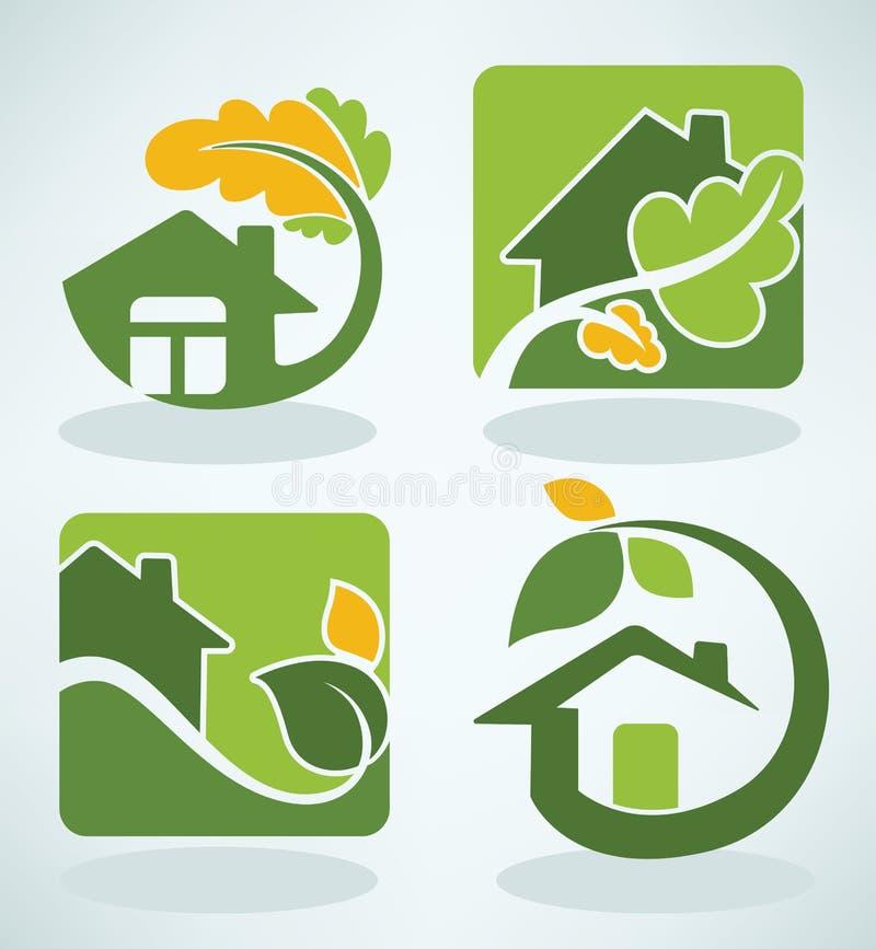 Download Huizen en naure vector illustratie. Illustratie bestaande uit lay - 54075603