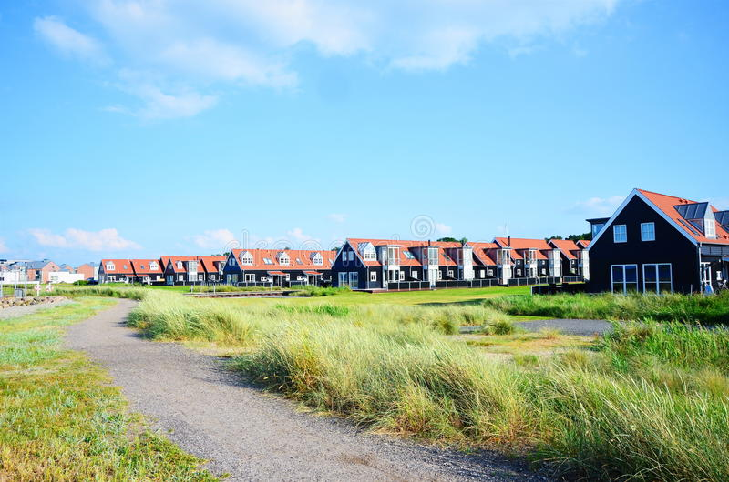 Huizen in Juelsminde royalty-vrije stock foto's