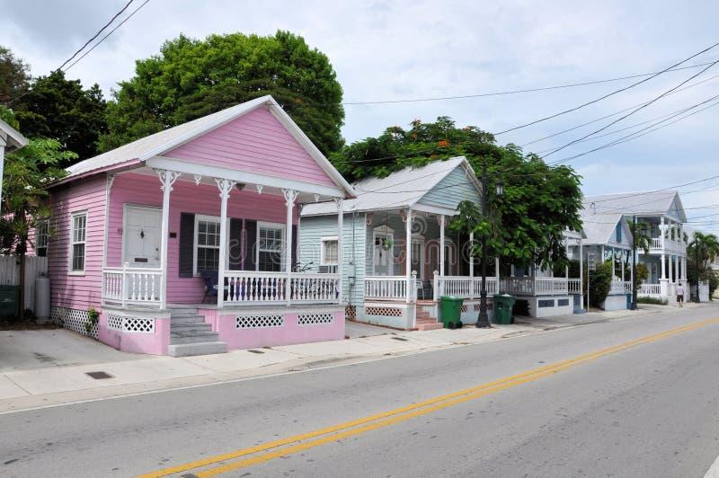 Huizen in Key West royalty-vrije stock afbeelding