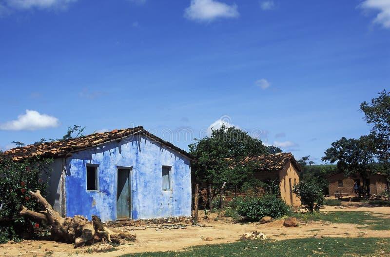 Huizen in landelijk Brazilië royalty-vrije stock afbeelding