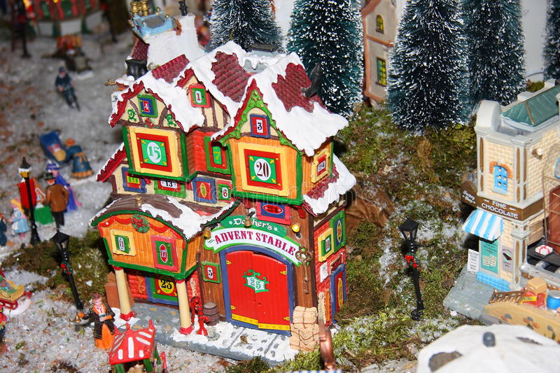 Huizen in miniatuur royalty-vrije stock foto