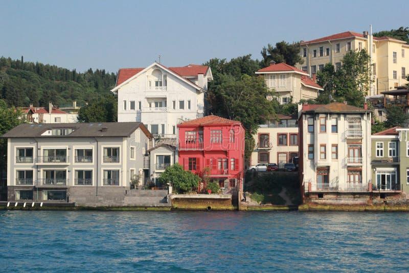 Huizen op Water royalty-vrije stock foto