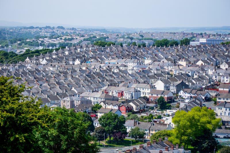 Huizen in Plymouth stock foto's