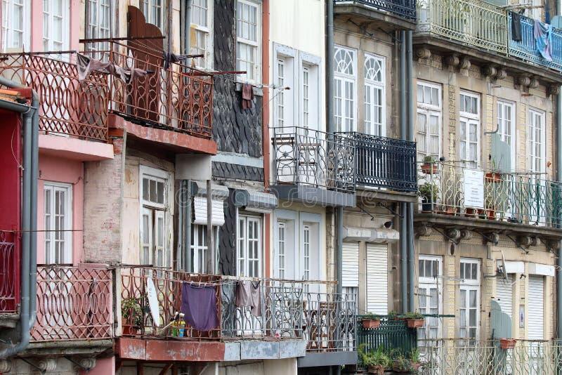 Huizen in Porto Portugal stock afbeelding