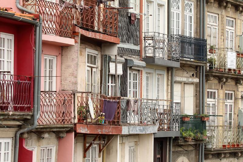 Huizen in Porto Portugal stock foto
