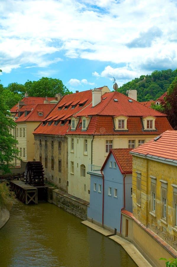 Huizen in Praag royalty-vrije stock foto's