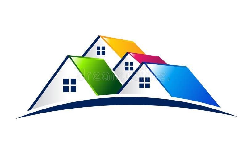 Huizen. Real Estate-Ontwerp stock illustratie