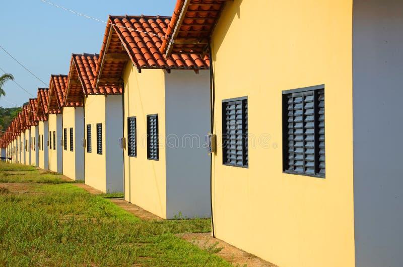 Huizen in rij royalty-vrije stock fotografie