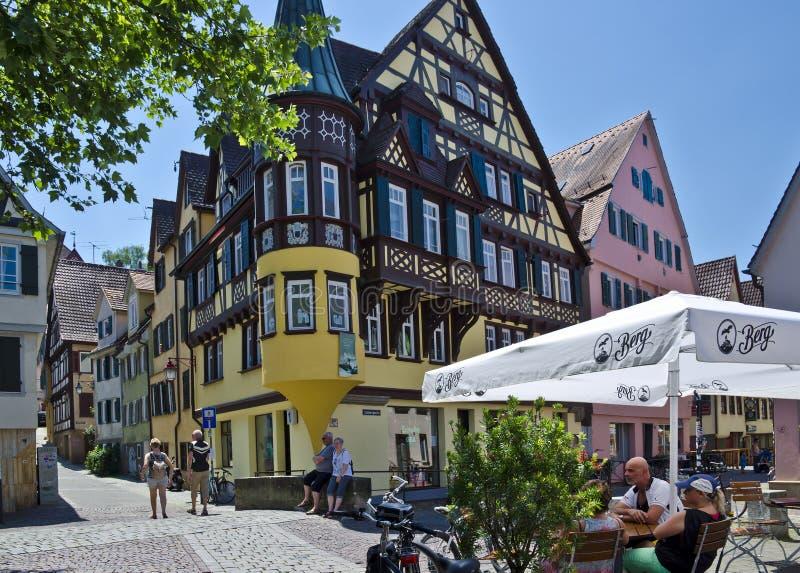 Huizen in Tübingen, Duitsland stock fotografie