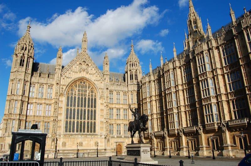 Huizen van het Parlement, Londen, het UK stock afbeeldingen