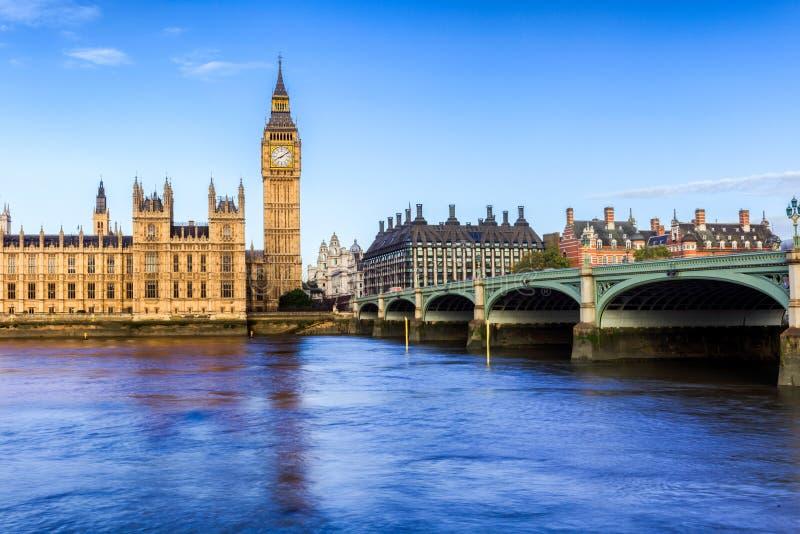 Huizen van het Parlement, Westminster, Londen stock foto's