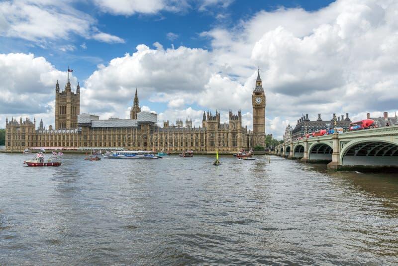 Huizen van het Parlement in Westminster, Londen, Engeland, Groot-Brittannië royalty-vrije stock afbeelding
