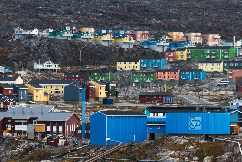 Huizen van Ilulissat, Groenland royalty-vrije stock foto