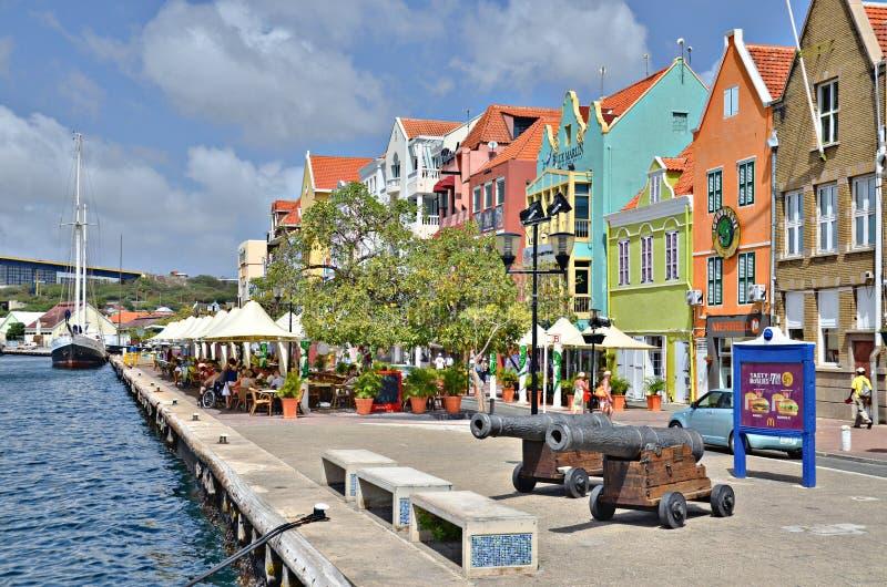Huizen in Willemstad, Curacao stock foto
