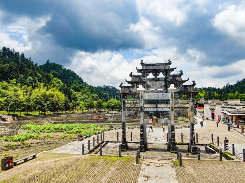 Huizhou-Architektur in China stockfotos