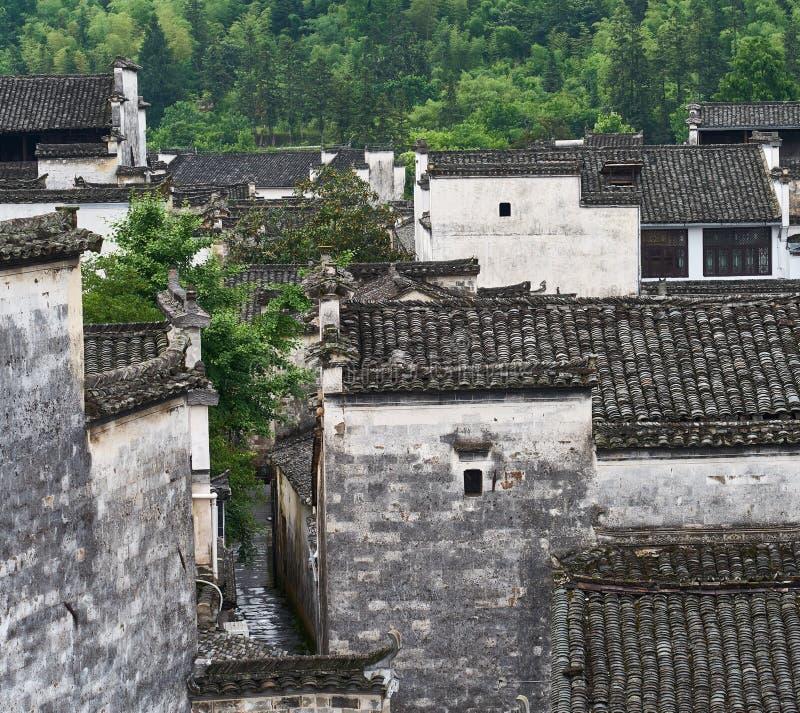 Huizhou-Architektur von Xidi-Dorf lizenzfreie stockbilder