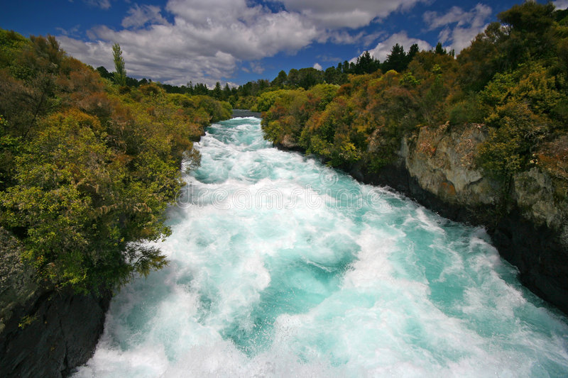 Download Huka Falls stock photo. Image of falls, waterfalls, strong - 8257330