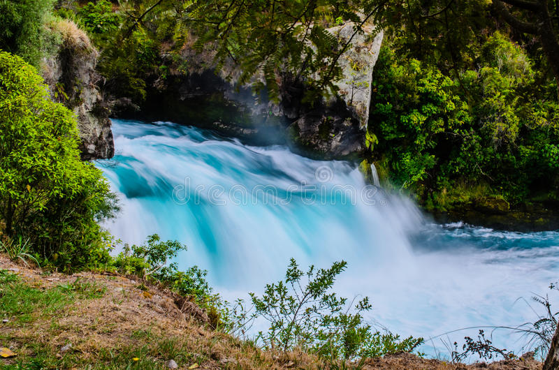 Huka Falls, New Zealand, Waikato. Royalty Free Stock Image